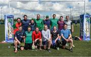 19 May 2017; The first ever Cadbury #BoostYourAwareness Touch rugby Blitz took place today in Lansdowne Rugby Football Club. The day-long event, which was held in aid of Cadbury's charity partner Aware, aims to highlight and educate participants on the importance of maintaining positive mental health by staying active. Pictured are members of the IRFU team at Lansdowne RFC in Lansdowne Road, Dublin. Photo by Cody Glenn/Sportsfile