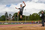 20 May 2017; James Vance of Pres Bray competes in the senior boys long jump event during day 2 of the Irish Life Health Leinster Schools Track & Field Championships at Morton Stadium in Dublin. Photo by Stephen McCarthy/Sportsfile