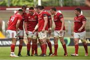 20 May 2017; Munster players including Conor Murray, Donnacha Ryan, CJ Stander, and Peter O'Mahony in conversation before a lineout during the Guinness PRO12 semi-final between Munster and Ospreys at Thomond Park in Limerick. Photo by Diarmuid Greene/Sportsfile