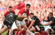 20 May 2017; Conor Murray of Munster is tackled by Scott Baldwin of Ospreys during the Guinness PRO12 semi-final between Munster and Ospreys at Thomond Park in Limerick. Photo by Diarmuid Greene/Sportsfile