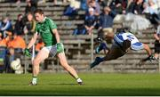 20 May 2017; Eoin Donnelly of Fermanagh in action against Neil Mc Adam of Monaghan during the Ulster GAA Football Senior Championship Preliminary Round match between Monaghan and Fermanagh at St Tiernach's Park in Clones, Co. Monaghan. Photo by Oliver McVeigh/Sportsfile