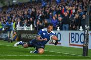 19 May 2017; Isa Nacewa of Leinster goes over for a try which was subsequently disallowed during the Guinness PRO12 Semi-Final match between Leinster and Scarlets at the RDS Arena in Dublin. Photo by Stephen McCarthy/Sportsfile