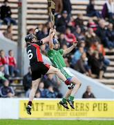 27 November 2011; Barry Teehan, Coolderry, in action against Darren Stamp, Oulart the Ballagh. AIB Leinster GAA Hurling Senior Club Championship Final, Oulart the Ballagh, Wexford v Coolderry, Offaly, Nowlan Park, Kilkenny. Picture credit: Matt Browne / SPORTSFILE