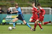 21 May 2017; Evan Ferguson of Dublin District Schoolboys League in action against Patrick Montgomery and James O'Cnnell of Sligo Leitrim Schoolboys League during the Subway SFAI U13 Final match between Sligo Leitrim Schoolboys League and Dublin District Schoolboys League in Cahir, Co Tipperary. Photo by David Maher/Sportsfile