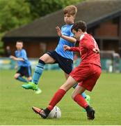 21 May 2017;  Enna Clancy of Sligo Leitrim Schoolboys League in action against Thomas Lonergan of  Dublin District Schoolboys League during the Subway SFAI U13 Final match between Sligo Leitrim Schoolboys League and Dublin District Schoolboys League in Cahir, Co Tipperary. Photo by David Maher/Sportsfile