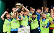 21 May 2017; Players of Dublin District Schoolboys League celebrate after winning the Subway SFAI U13 Final match between Sligo Leitrim Schoolboys League and Dublin District Schoolboys League in Cahir, Co Tipperary.  Photo by David Maher/Sportsfile