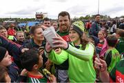 21 May 2017; Chris Barrett of Mayo with supporters following the Connacht GAA Football Senior Championship Quarter-Final match between Mayo and Sligo at Elvery's MacHale Park in Castlebar, Co. Mayo. Photo by Stephen McCarthy/Sportsfile
