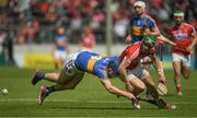 21 May 2017; Alan Cadogan of Cork in action against John O'Keeffe of Tipperary during the Munster GAA Hurling Senior Championship Semi-Final match between Tipperary and Cork at Semple Stadium in Thurles, Co Tipperary. Photo by Brendan Moran/Sportsfile