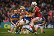 21 May 2017; Cathal Barrett of Tipperary in action against Patrick Horgan of Cork during the Munster GAA Hurling Senior Championship Semi-Final match between Tipperary and Cork at Semple Stadium in Thurles, Co Tipperary. Photo by Brendan Moran/Sportsfile