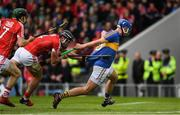 21 May 2017; John McGrath of Tipperary has his jersey pulled by Colm Spillane of Cork during the Munster GAA Hurling Senior Championship Semi-Final match between Tipperary and Cork at Semple Stadium in Thurles, Co Tipperary. Photo by Ray McManus/Sportsfile