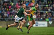 21 May 2017; Michael Murphy of Donegal in action against Sean McVeigh of Antrim during the Ulster GAA Football Senior Championship Quarter-Final match between Donegal and Antrim at MacCumhaill Park in Ballybofey, Co. Donegal. Photo by Philip Fitzpatrick/Sportsfile