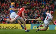 21 May 2017; Seamus Callanan of Tipperary in action against Damian Cahalane and Anthony Nash of Cork during the Munster GAA Hurling Senior Championship Semi-Final match between Tipperary and Cork at Semple Stadium in Thurles, Co. Tipperary. Photo by Ray McManus/Sportsfile