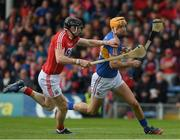 21 May 2017; Seamus Callanan of Tipperary in action against Damian Cahalane of Cork during the Munster GAA Hurling Senior Championship Semi-Final match between Tipperary and Cork at Semple Stadium in Thurles, Co. Tipperary. Photo by Ray McManus/Sportsfile