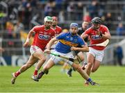 21 May 2017; John McGrath of Tipperary in action against Shane Kingston, left, and Colm Spillane of Cork during the Munster GAA Hurling Senior Championship Semi-Final match between Tipperary and Cork at Semple Stadium in Thurles, Co Tipperary. Photo by Ray McManus/Sportsfile