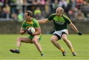 20 May 2017; Michael Murphy of Donegal   in action against Sean McVeigh of Antrim during the Ulster GAA Football Senior Championship Quarter-Final match between Donegal and Antrim at MacCumhaill Park in Ballybofey, Co Donegal. Photo by Oliver McVeigh/Sportsfile