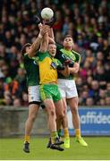 20 May 2017; Michael Murphy of Donegal   in action against Donal Nugent and Jack Dowling of Antrim during the Ulster GAA Football Senior Championship Quarter-Final match between Donegal and Antrim at MacCumhaill Park in Ballybofey, Co Donegal. Photo by Oliver McVeigh/Sportsfile