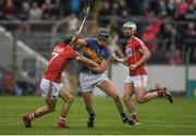 21 May 2017; Dan McCormack of Tipperary is tackled by Mark Coleman of Cork during the Munster GAA Hurling Senior Championship Semi-Final match between Tipperary and Cork at Semple Stadium in Thurles, Co Tipperary. Photo by Brendan Moran/Sportsfile
