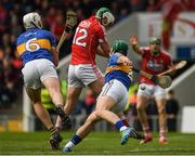21 May 2017; Shane Kingston of Cork scores the first Cork goal past Ronan Maher, left, and Cathal Barrett of Tipperary during the Munster GAA Hurling Senior Championship Semi-Final match between Tipperary and Cork at Semple Stadium in Thurles, Co Tipperary. Photo by Ray McManus/Sportsfile