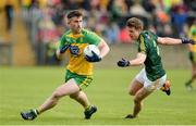21 May 2017; Patrick McBrearty of Donegal in action against Conor Hamill of Antrim during the Ulster GAA Football Senior Championship Quarter-Final match between Donegal and Antrim at MacCumhaill Park in Ballybofey, Co Donegal. Photo by Oliver McVeigh/Sportsfile