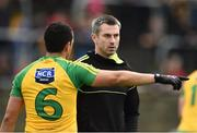 21 May 2017; Donegal manager Rory Gallagher along with Frank McGlynn of Donegal during the Ulster GAA Football Senior Championship Quarter-Final match between Donegal and Antrim at MacCumhaill Park in Ballybofey, Co Donegal. Photo by Oliver McVeigh/Sportsfile