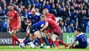 19 May 2017; Cian Healy of Leinster is tackled by Johnny McNicholl of Scarlets during the Guinness PRO12 Semi-Final match between Leinster and Scarlets at the RDS Arena in Dublin. Photo by Ramsey Cardy/Sportsfile