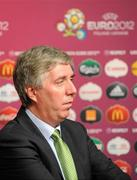 2 December 2011; John Delaney, Chief Executive of the Football Assocition of Ireland in attendance, at the draw for the UEFA EURO2012 Championship Finals. UEFA EURO2012 Championship Finals Draw, Palace of Arts, Kyiv, Ukraine. Picture credit: Brendan Moran / SPORTSFILE