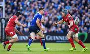 19 May 2017; Garry Ringrose of Leinster in action against James Davies, left, and Jonathan Davies of Scarlets during the Guinness PRO12 Semi-Final match between Leinster and Scarlets at the RDS Arena in Dublin. Photo by Ramsey Cardy/Sportsfile