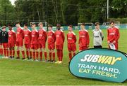 21 May 2017; The Sligo Leitrim Schoolboys League before the start of the Subway SFAI U13 Final match between Sligo Leitrim Schoolboys League and Dublin District Schoolboys League in Cahir, Co Tipperary. Photo by David Maher/Sportsfile