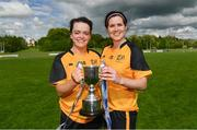 20 May 2017; Ulster and Cavan players Sinead Greene, left, and Aisling Doonan following the MMI Ladies Football Interprovincial Tournament final between Munster and Ulster at Gavan Diffy Park in Monaghan. Photo by Ramsey Cardy/Sportsfile
