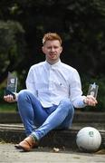 22 May 2017; Aaron Byrne of Dublin pictured with his EirGrid U21 Player of the Year award and Eirgrid U21 21 Award for his outstanding contribution in the 2017 EirGrid GAA Football U21 Championship. EirGrid is the state-owned company that manages and develops Ireland's electricity grid. For more information see www.eirgrid.com. Herbert Park Hotel in Dublin.  Photo by Sam Barnes/Sportsfile