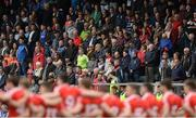 21 May 2017; Supporters and the Louth players stand for the National Anthem before the Leinster GAA Football Senior Championship Round 1 match between Louth and Wicklow at Parnell Park in Dublin. Photo by Piaras Ó Mídheach/Sportsfile