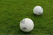 21 May 2017; A general view of footballs before the Leinster GAA Football Senior Championship Round 1 match between Louth and Wicklow at Parnell Park in Dublin. Photo by Piaras Ó Mídheach/Sportsfile