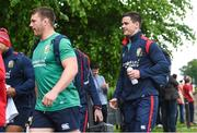22 May 2017; Jonathan Sexton, right, and Sean O'Brien of British and Irish Lions arrive for squad training at Carton House in Maynooth, Co Kildare. Photo by Ramsey Cardy/Sportsfile