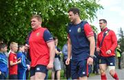 22 May 2017; Tadhg Furlong, left, and Robbie Henshaw of British and Irish Lions arrive for squad training at Carton House in Maynooth, Co Kildare. Photo by Ramsey Cardy/Sportsfile