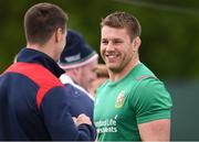 22 May 2017; Sean O'Brien in conversation with Jonathan Sexton, both of British and Irish Lions during squad training at Carton House in Maynooth, Co Kildare. Photo by Sam Barnes/Sportsfile