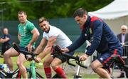 22 May 2017; Jonathan Sexton of British and Irish Lions alongside team-mates Sean O'Brien, left, and Rhys Webb during squad training at Carton House in Maynooth, Co Kildare. Photo by Ramsey Cardy/Sportsfile