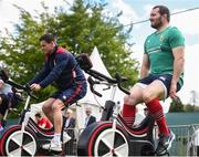 22 May 2017; Ken Owens, right, and Jonathan Sexton of British and Irish Lions during squad training at Carton House in Maynooth, Co Kildare. Photo by Ramsey Cardy/Sportsfile