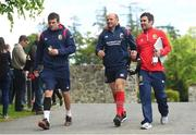 22 May 2017; Jared Payne, left, and Rory Best, centre, of British and Irish Lions arrive for squad training at Carton House in Maynooth, Co Kildare. Photo by Ramsey Cardy/Sportsfile