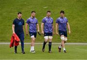 22 May 2017; Munster technical coach Felix Jones along with players Conor Murray, Peter O'Mahony, and Billy Holland make their way out for Munster Rugby squad training at the University of Limerick in Limerick. Photo by Diarmuid Greene/Sportsfile