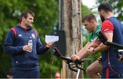 22 May 2017; Jared Payne, left, Sean O'Brien, centre, and British and Irish Lions defence coach Andy Farrell during squad training at Carton House in Maynooth, Co Kildare. Photo by Ramsey Cardy/Sportsfile