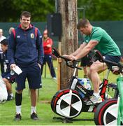 22 May 2017; Jared Payne, left, and Sean O'Brien of British and Irish Lions during squad training at Carton House in Maynooth, Co Kildare. Photo by Ramsey Cardy/Sportsfile