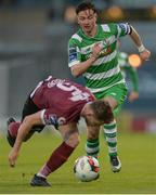 22 May 2017; Ronan Finn of Shamrock Rovers in action against Lee Grace of Galway United during the SSE Airtricity League Premier Division match between Shamrock Rovers and Galway United at Tallaght Stadium in Dublin. Photo by Piaras Ó Mídheach/Sportsfile