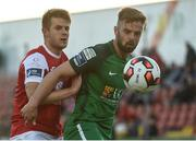 22 May 2017; Greg Bolger of Cork City in action against Regan Donelon of Sligo Rovers during the SSE Airtricity League Premier Division match between Sligo Rovers and Cork City at the Showgrounds in Co Sligo. Photo by David Maher/Sportsfile