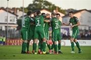22 May 2017; Kevin O'Connor, hiddern, of Cork City celebrates after scoring his side's  second goal with teammates during the SSE Airtricity League Premier Division match between Sligo Rovers and Cork City at the Showgrounds in Co Sligo. Photo by David Maher/Sportsfile
