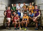 23 May 2017; In attendance at the launch of the Bord Gáis Energy GAA Hurling U21 All-Ireland Championship are, from left, Thomas Monaghan of Galway, Billy McCarthy of Tipperary, Peter Casey of Limerick, Luke Meade of Cork, Patrick Curran of Waterford, Liam Blanchfield of Kilkenny, Aron Shanagher of Clare, Shane Barrett of Dublin, Christy McNaughton of Antrim and Aaron Maddock of Wexford. Follow all the U21 Hurling Championship action at #HurlingToTheCore. Photo by Ramsey Cardy/Sportsfile