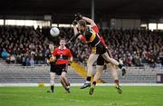 4 December 2011; Colm Cooper, Dr. Crokes, in action against Peter Crowley, UCC. AIB Munster GAA Football Senior Club Championship Final, Dr. Crokes v UCC, Fitzgerald Stadium, Killarney, Co. Kerry. Picture credit: Diarmuid Greene / SPORTSFILE