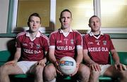 5 December 2011; 'Club is family': Pictured are brothers Dominic, left, Declan, centre, and Donal O'Sullivan with John Fleming, AIB Branch Manager, Caherciveen, as preparations continue for their club Dromoid Pearses' upcoming AIB GAA Football All-Ireland Junior Club Championship Quarter Final clash with Cuchullain, Newcastle, on Sunday 11th December. Picture credit: Diarmuid Greene / SPORTSFILE