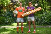 24 May 2017; In attendance during the GAA and the DFA launch of The 2017 Global Games Development Fund at Iveagh House are, from left, Jamie Clarke of Armagh and Lee Chin of Wexford. St. Stephen's Green, Dublin. Photo by Sam Barnes/Sportsfile