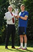 25 May 2017; Garry Ringrose of Leinster is presented with the Bank of Ireland Player of the Month award for April 2017 by Jamie Murphy from Bank of Ireland, Montrose, at Leinster Rugby HQ, Newstead Building, UCD, Belfield, Dublin 4. Photo by Matt Browne/Sportsfile