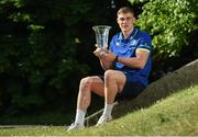25 May 2017; Garry Ringrose of Leinster with his Bank of Ireland Player of the Month award for April 2017, at Leinster Rugby HQ, Newstead Building, UCD, Belfield, Dublin 4. Photo by Matt Browne/Sportsfile